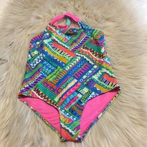 Girls Swimsuit  multi color size 14. 22 inch long